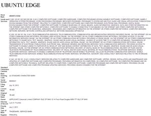 Ubuntu Edge Trademark