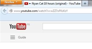 YouTube vidéo onglet