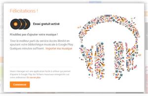 Google Play Music accès illimité