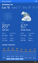 Bing météo WP8