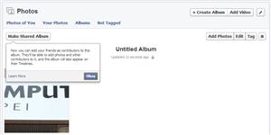 Facebook album partagé