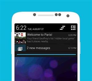 Foursquare Android notification