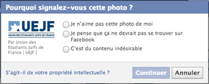 signalement facebook uejf