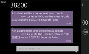 OVH SMS