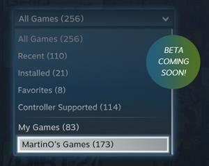 Steam partage jeux