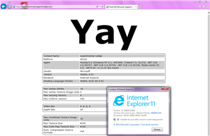 IE 11 Windows 7 WebGL