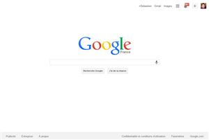 Google page d'accueil
