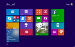 Windows 81 ecran accueil