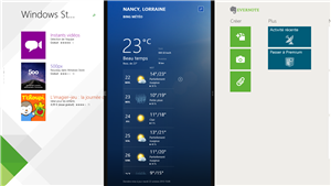 Windows 8.1 trois applications