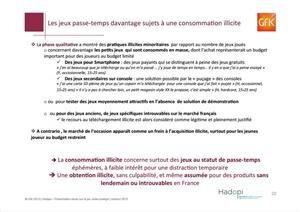 Hadopi Rapport Jeu Vidéo
