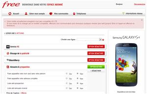 Free Mobile option 4G
