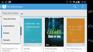 Google Play Livres Importation