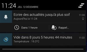 Notification Google Keep Android