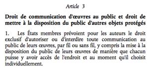 directive droit auteur