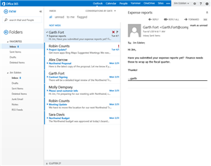 owa outlook clutter