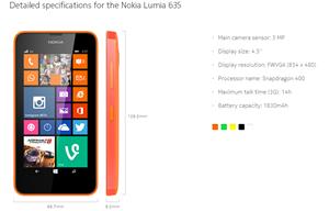Lumia 630 635