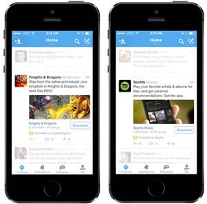 Twitter Sponsored Apps