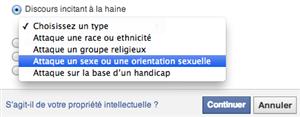 signalement facebook homophobie