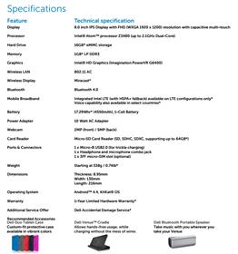 Dell Venue 7 8
