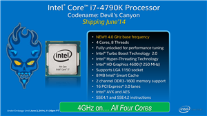 Intel Devil's Canyon Computex 2014 Slides