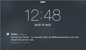 Twitter Notification Publicitaire