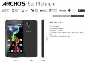 Archos 50b 45c Platinum