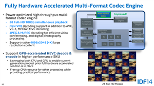 Intel IDF 2014 HEVC Broadwell