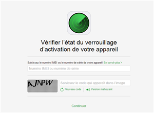 apple vérification activation iphone localiser