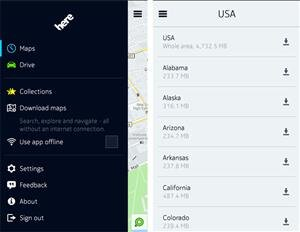 here maps android samsung