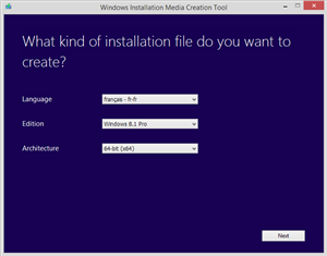 windows 8.1 outil réinstallation clé usb dvd iso