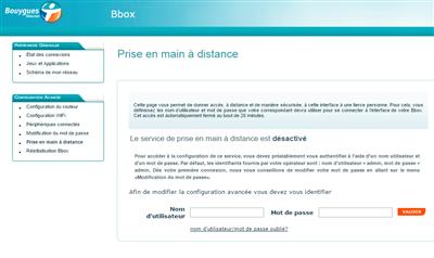 Bbox fuite données Parfeu