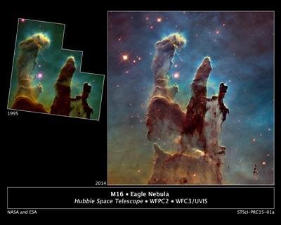 Piliers de la création Hubble