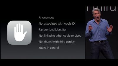 Apple WWDC Anonymat
