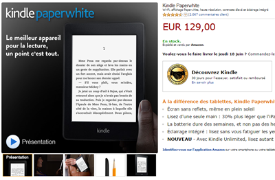 Kindle PaperWhithe