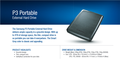 Samsung M3 P3 Portable