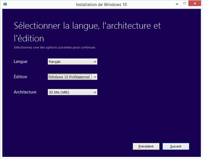 Outil de création de media Windows 10
