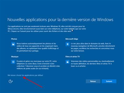 Windows 10 applications par défaut
