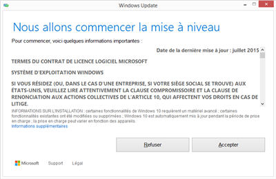 Windows 10 Mise à jour