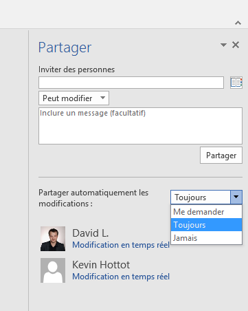 Word 2016 Preview Collaboratif
