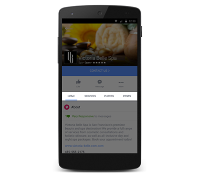 Facebook Pages Shopping Mobile