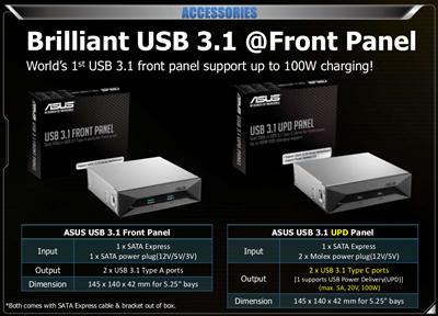 ASUS USB 3.1 Panel Z170