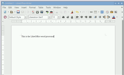Rasbperry Pi LibreOffice