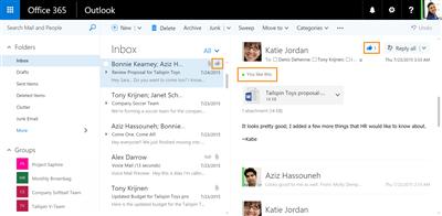 Outlook Réseau social