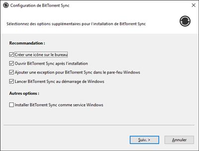 BitTorrent Sync 2.3 Service