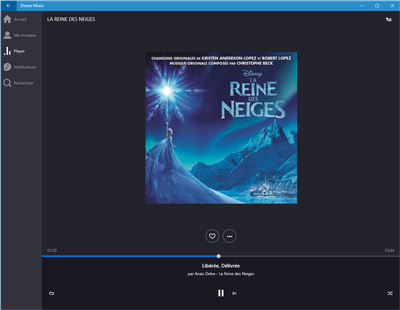Deezer Windows 10 app universelle
