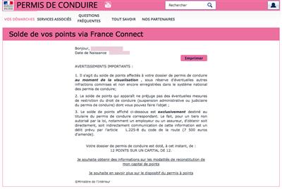 franceconnect télépoints
