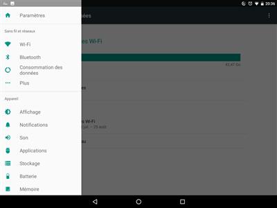 Android N paramètres