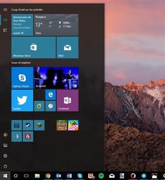 windows 10 démarrer