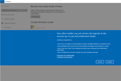 Microsoft Windows Insider Preview Hub