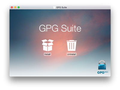 GnuPG macOS GPG Suite